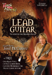 LEAD GUITAR - TECHNIQUES FOR CREATING SOLOS Expand Your Arsenal!  --  DVD