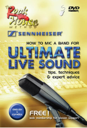 HOW TO MIC A BAND FOR ULTIMATE LIVE SOUND Tips, Techniques & Expert Advice  BY ROCK HOUSE --  DVD  HL14027276