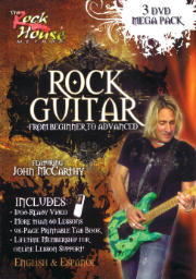 ROCK GUITAR MEGA PACK From Beginner to Advanced BY John McCarthy  --  THREE DVD PACK