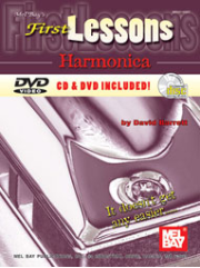 First Lessons Harmonica Book/CD/DVD Set by David Barrett  --  BOOK, CD AND DVD