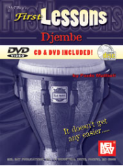 First Lessons Djembe Book/CD/DVD Set by Paulo Mattioli  --  BOOK, CD AND DVD SET