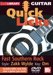Guitar Quick Licks - Zakk Wylde Style DVD Fast Southern Rock, Key of Dm by Andy James   --  DVD